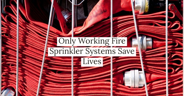 Only Working Fire Sprinkler Systems Save Lives