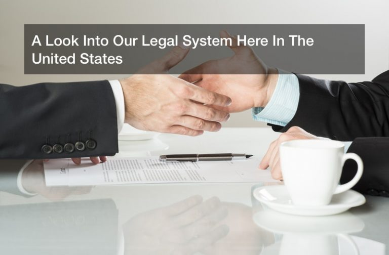 A Look Into Our Legal System Here In The United States