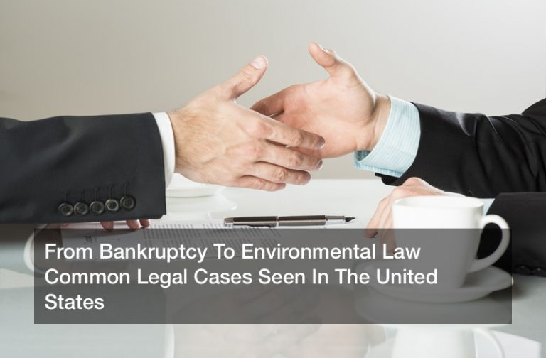 From Bankruptcy To Environmental Law  Common Legal Cases Seen In The United States