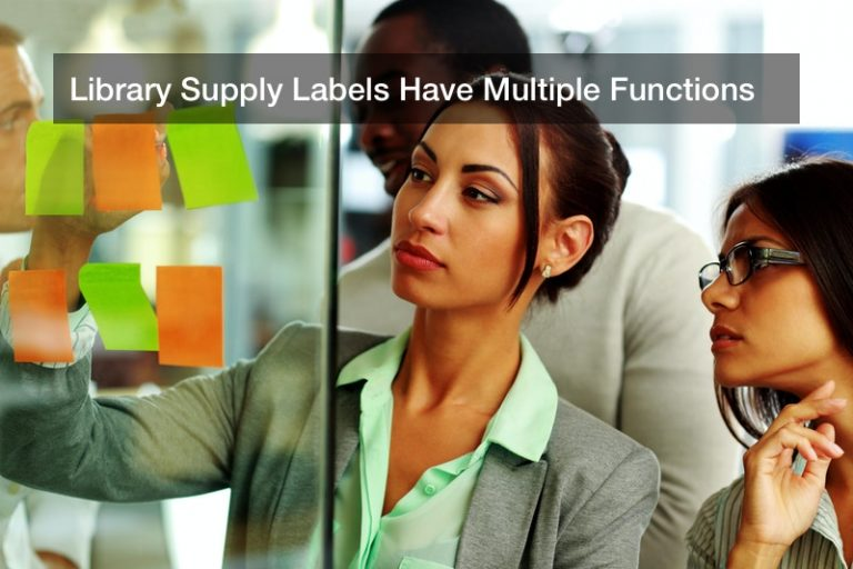 Library Supply Labels Have Multiple Functions