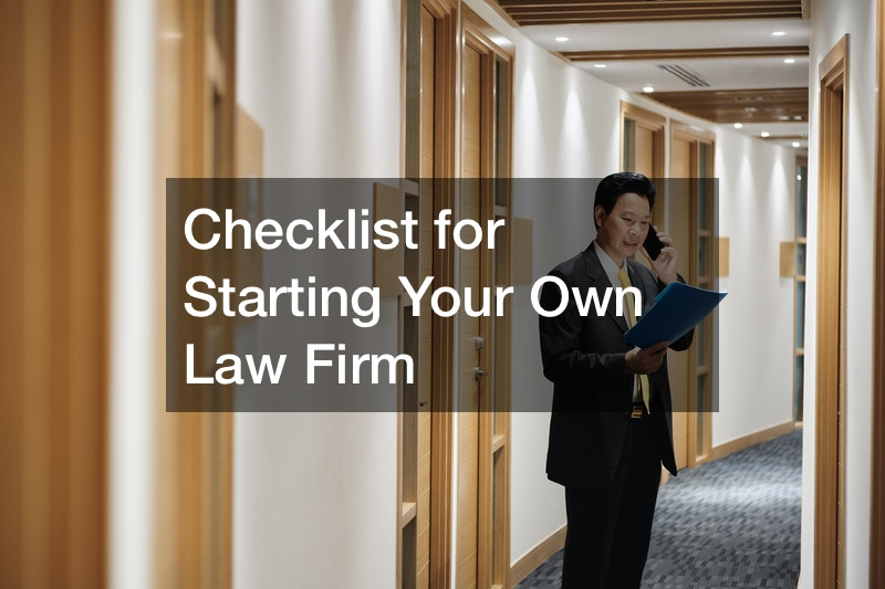 Checklist for Starting Your Own Law Firm